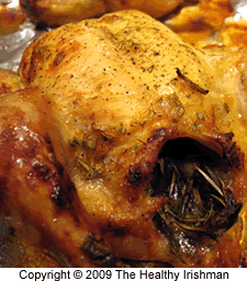 Roast Chicken with Apricot and Rosemary Glaze