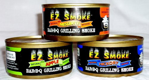 One can of EZ Smoke produces the same amount of smoking time as a 180 cubic inch bag of chips.