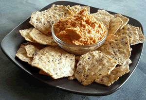 Roasted Red Jalapeno Cream Cheese Dip