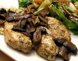 Partridge Marsala with Wild Mushrooms